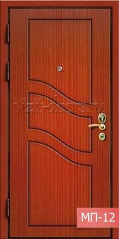 металлические двери с отделкой мдф пвх